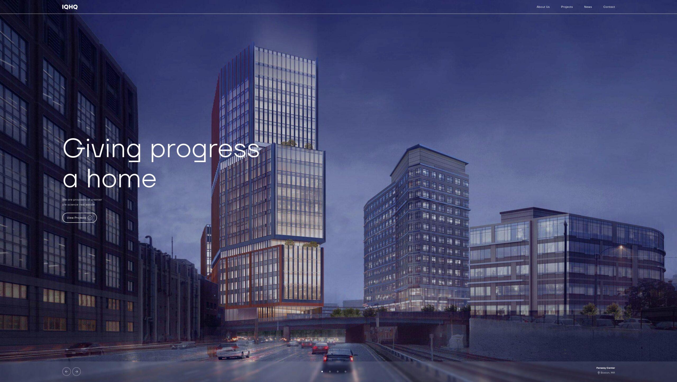 Orpetron Web Design Awards - IQHQ Real Estate Investment - Web Design Awards Inspiration Trends UI UX