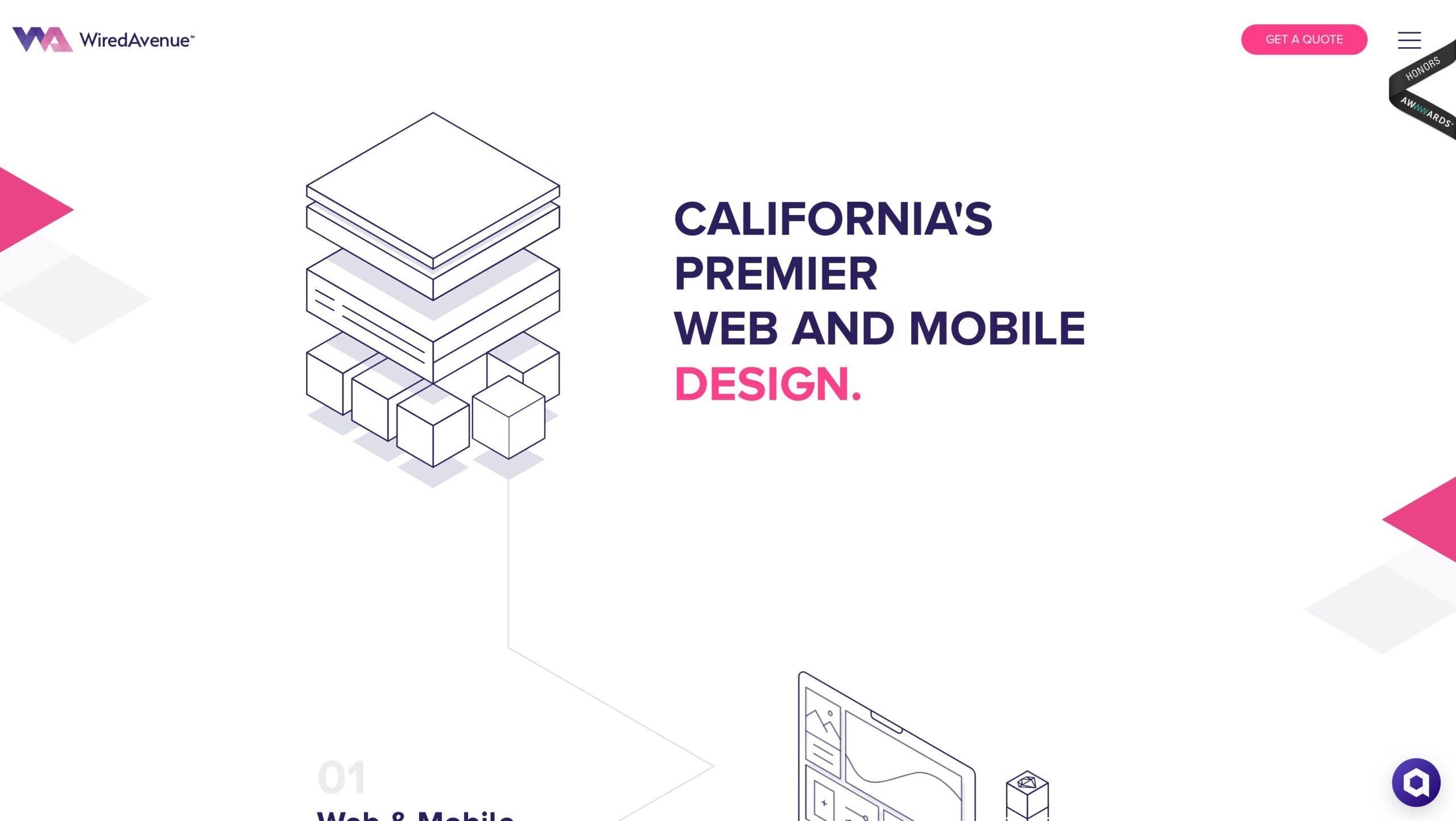 Orpetron Web Design Awards - Wired Avenue - Web Design Awards Inspiration Trends UI UX