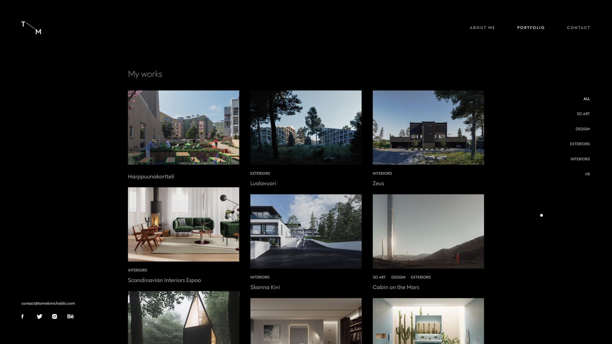 Orpetron Web Design Awards - 3D Artist – Tomek Michalski - Web Design Awards Inspiration Trends UI UX