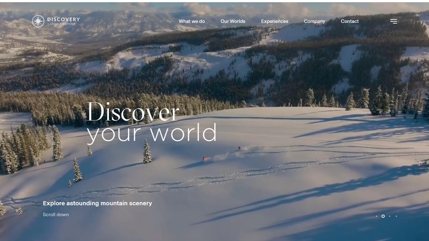 Orpetron Web Design Awards - Discovery Land Company - Web Design Awards Inspiration Trends UI UX