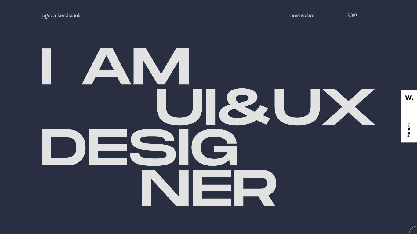 Orpetron Web Design Awards - Jagoda Kondratiuk Portfolio - Web Design Awards Inspiration Trends UI UX
