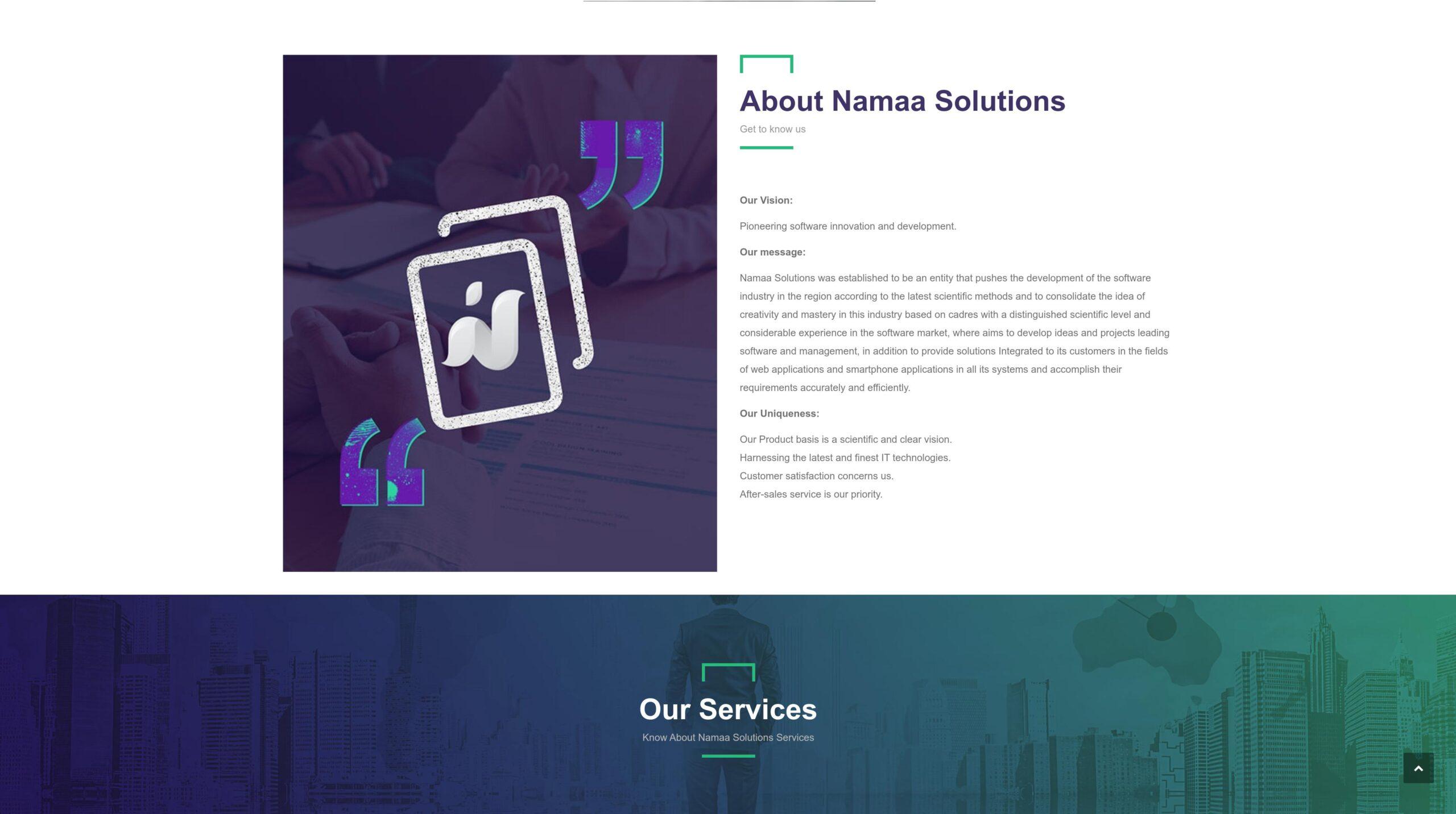Orpetron Web Design Awards - Namaa-Solutions - Web Design Awards Inspiration Trends UI UX