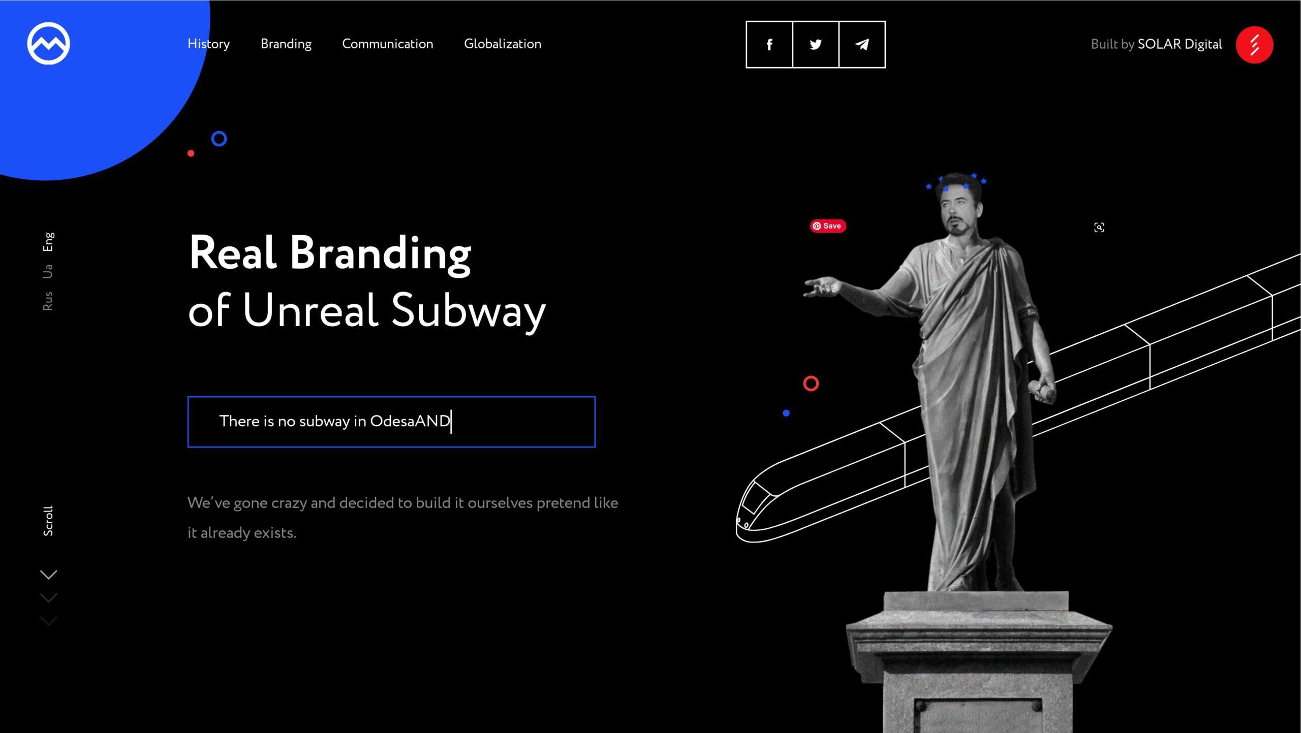 Orpetron Web Design Awards - Odessa Subway - Web Design Awards Inspiration Trends UI UX