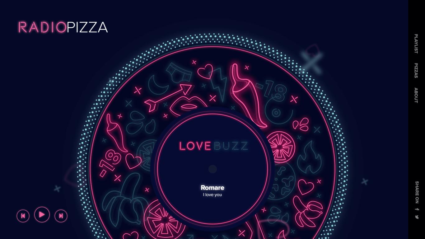 Orpetron Web Design Awards - Radio Pizza - Web Design Awards Inspiration Trends UI UX