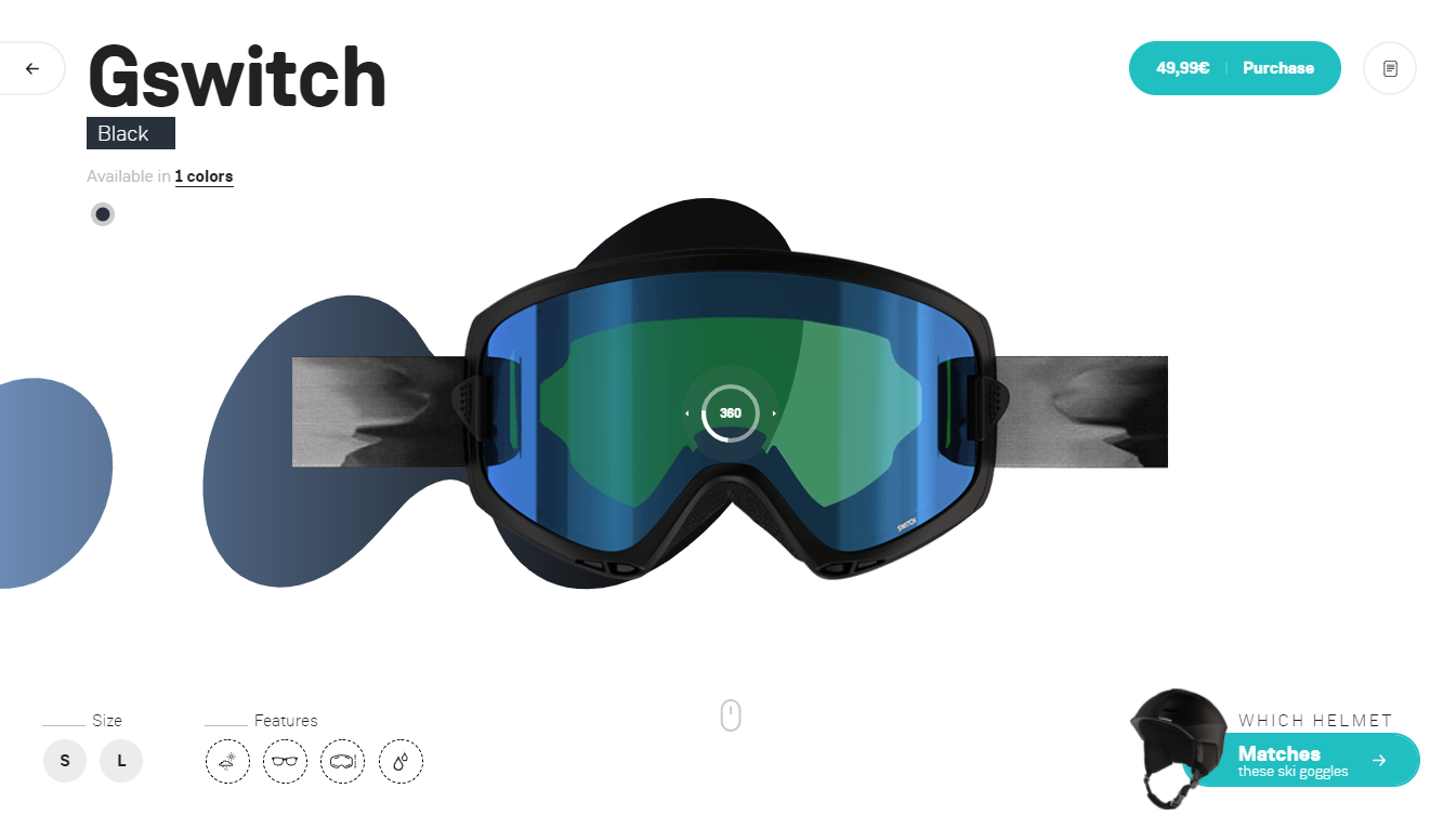 Orpetron Web Design Awards - Wed'ze ski goggles collection - Web Design Awards Inspiration Trends UI UX
