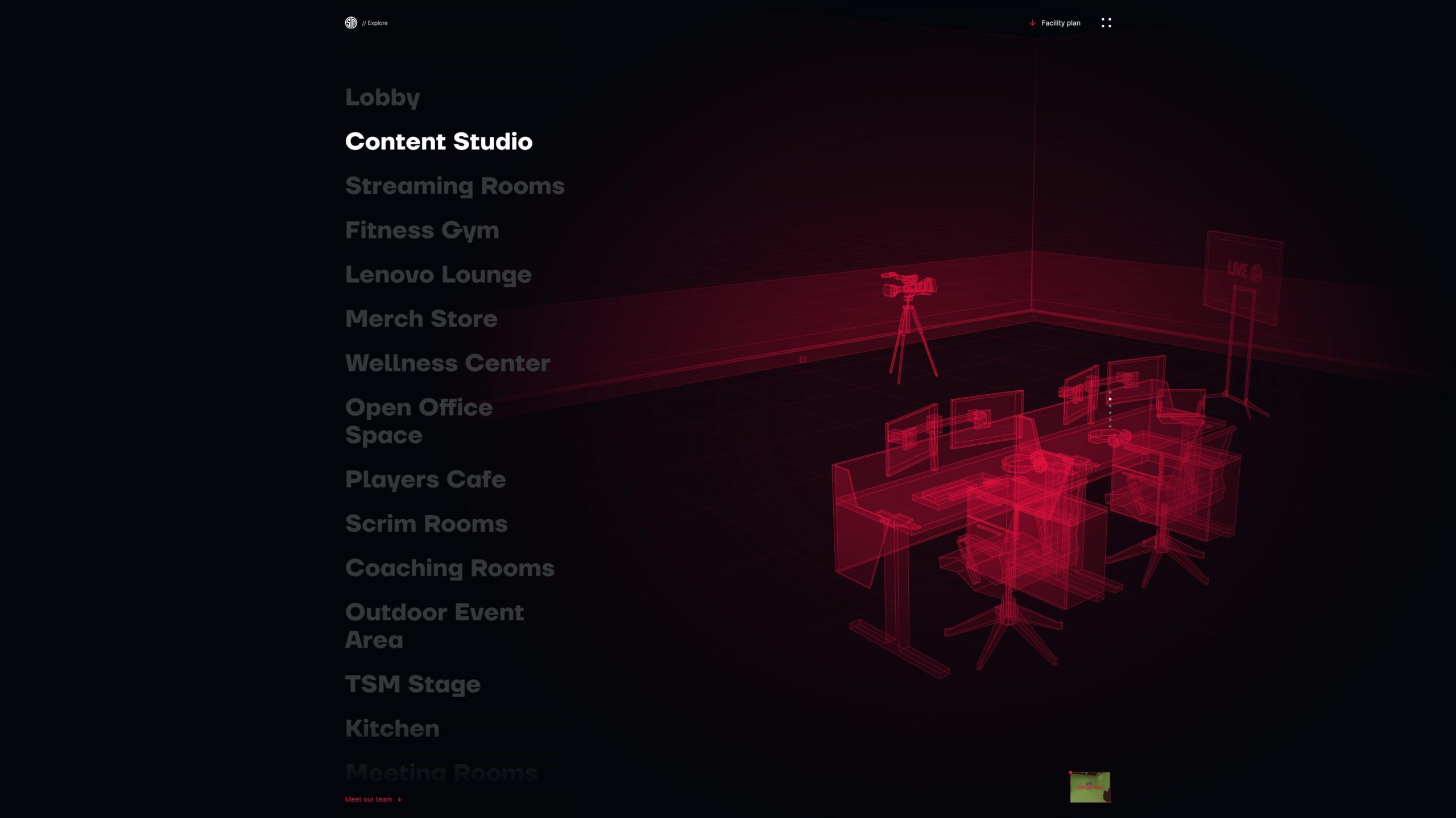 Orpetron Web Design Awards - Team Solomid Esports Facility - Web Design Awards Inspiration Trends UI UX