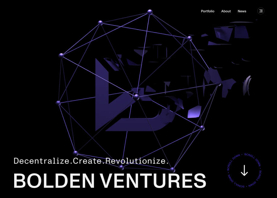 Orpetron Web Design Awards - Bolden Ventures - Web Design Awards Inspiration Trends UI UX