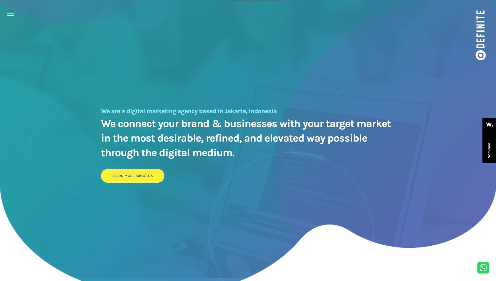 Orpetron Web Design Awards - Definite - Web Design Awards Inspiration Trends UI UX